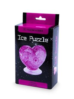 3D головоломка Ice puzzle Сердце розовое