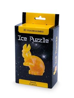 3D головоломка Ice puzzle Кролик золотой