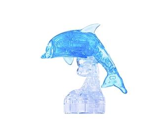 3D головоломка Ice puzzle Дельфин голубой XXL