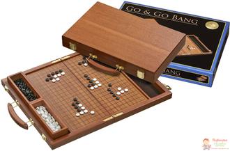 Настольная игра Го в чемоданчике (красное дерево, пластик), арт. 3211