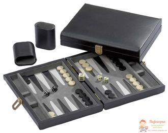 Настольная игра Нарды магнитные мини (черно-белые), арт. 1705 / Samos, klein, magnetisch - Backgammon