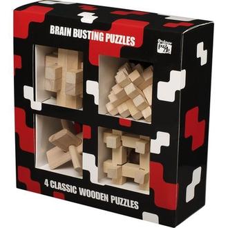 """Настольная игра 1036 Набор из 4 головоломок из дерева """"Зарядка для мозга"""" 530945"""