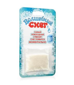 Волшебный снег 10 г Блистер бирюзовый