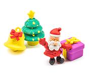 Набор Ластики - пазлы на блистере Дед мороз