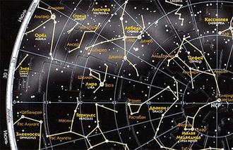 Астрономический Пазл Карта звёздного неба